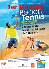 affiche tournoi beach tennis niort