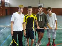 équipe 15/16 ans garçons souché tennis
