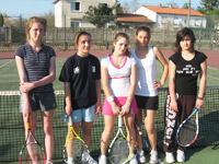 équipe 17-18 ans filles souché tennis