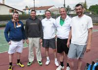équipe 4 hommes souché tennis